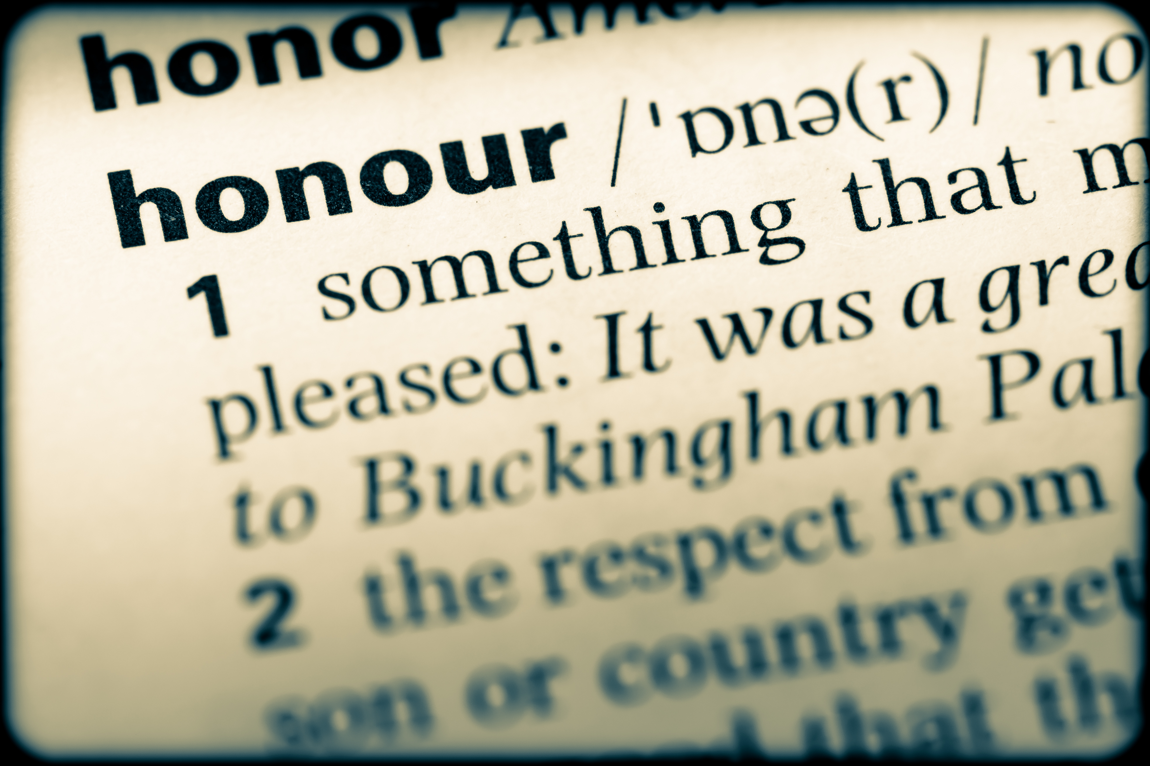 Unity & Honour Part 2 – By Definition